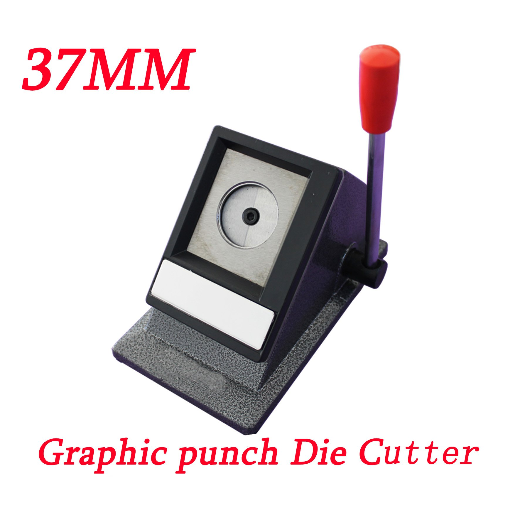 1-1/2'' 37mm Paper Graphic Punch Die Multi Sheets Stack Cutter Button Maker (Item#015426) by Button Maker