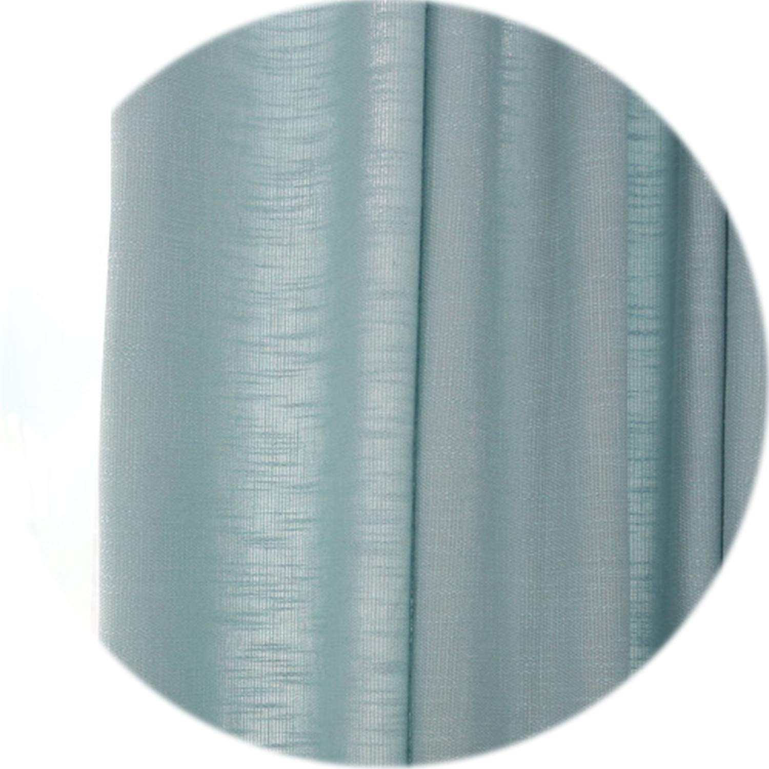 three thousand Solid Modern Curtains Decorative Door Bedroom Curtains Shade Window Fabric White Sheer Fashion Curtains for Living Room,Blue Thick,W500cm L270cm,3 Tab Top