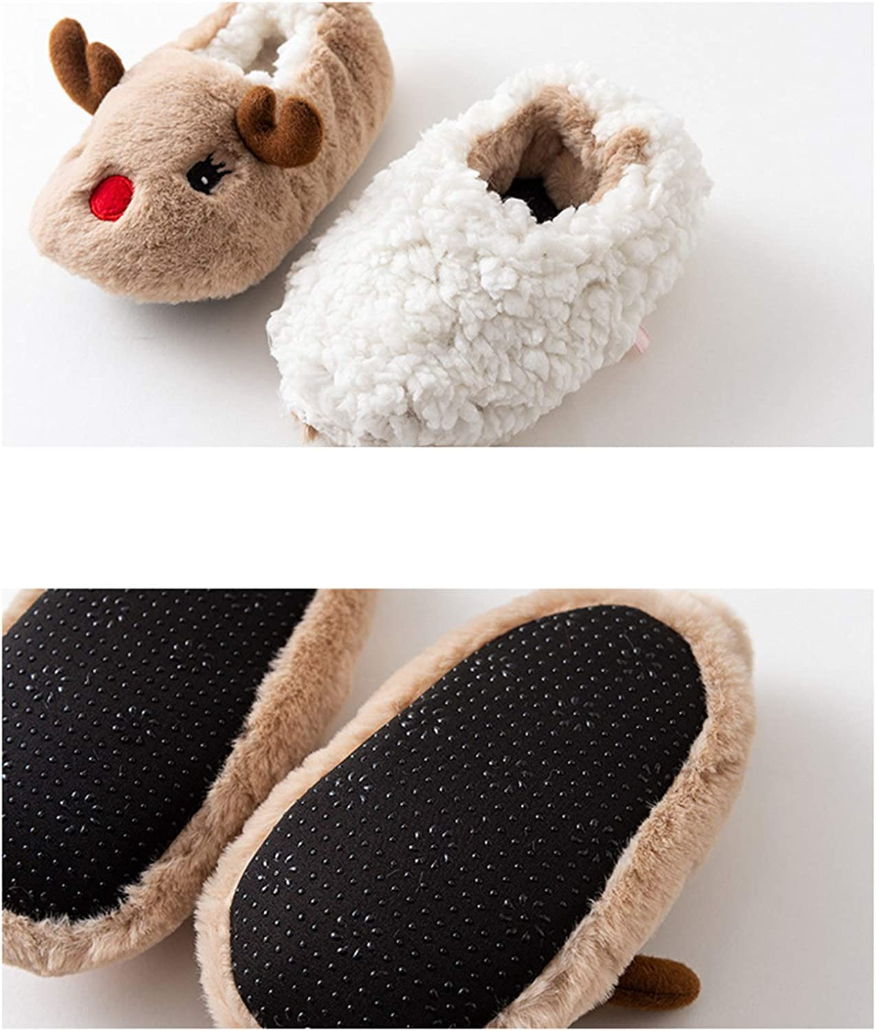 De feuilles Kids Toddler Baby Non-Slip Slippers Warm Lining Soft Sole Crib Shoes for Infant Boys Girls