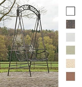 CLP Garten Hollywoodschaukel YLENIA, 2 Sitzer / 3 Sitzer, Landhaus Stil,  Metall