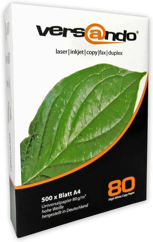 /White High White 80 2500 Blatt wei/ß c Versando Copier Paper/ Standard Packaging
