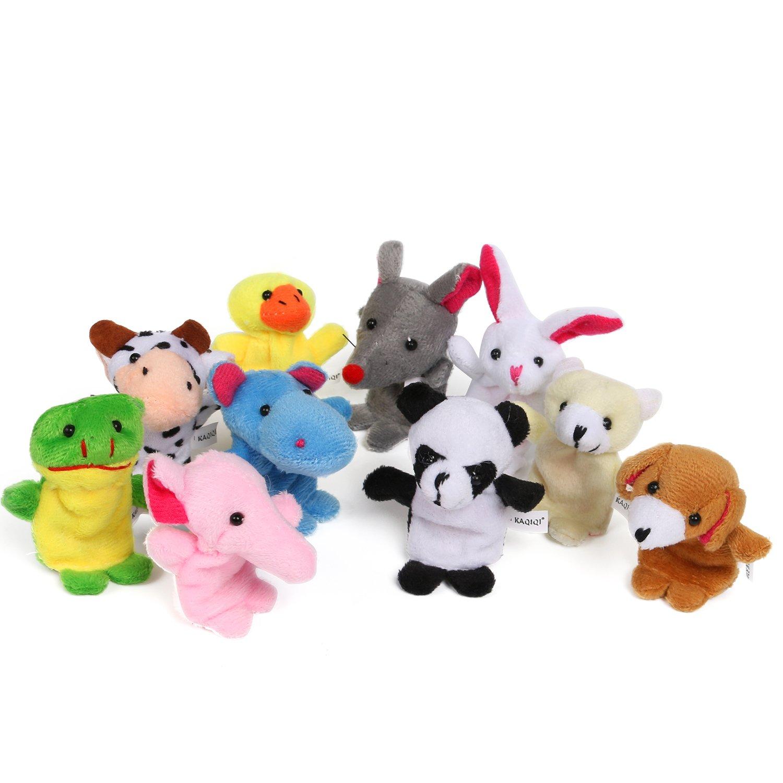 fourHeart Animales de la dedos títeres muñecos Soft Terciopelo accesorios juguetes, para Bebé Niños -- 10pcs: Amazon.es: Juguetes y juegos