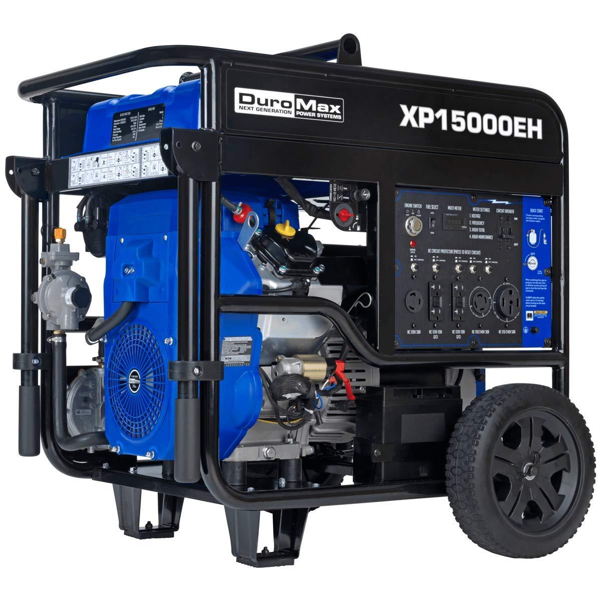 Duromax XP15000EH Dual Fuel 15000 Watt Electric Start Portable Generator