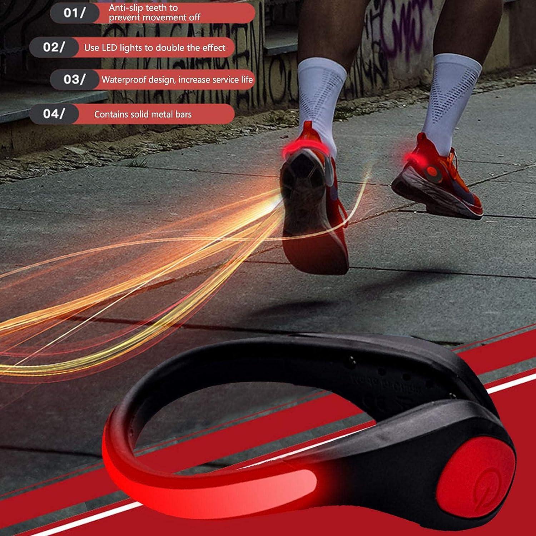 /Équipement De Course De Nuit De S/écurit/é R/éfl/échissant Lumi/ère De Batterie Rechargeable Et /Étanche pour La Course /À Pied 2 Le Cyclisme Le Jogging Lumi/ères De Clip De Chaussure /À LED