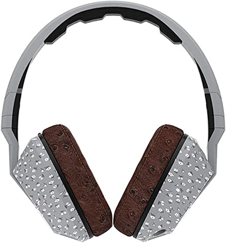 Skullcandy Crusher Headphones with Built-in Amplifier and Mic, Microfloral Grey and Black