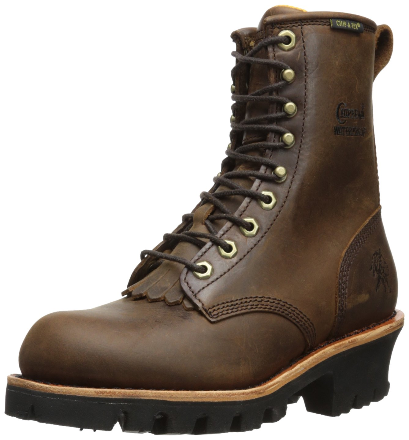 Chippewa Women's 8'' Waterproof Insulated L26340 Logger Boot,Brown,9 M US