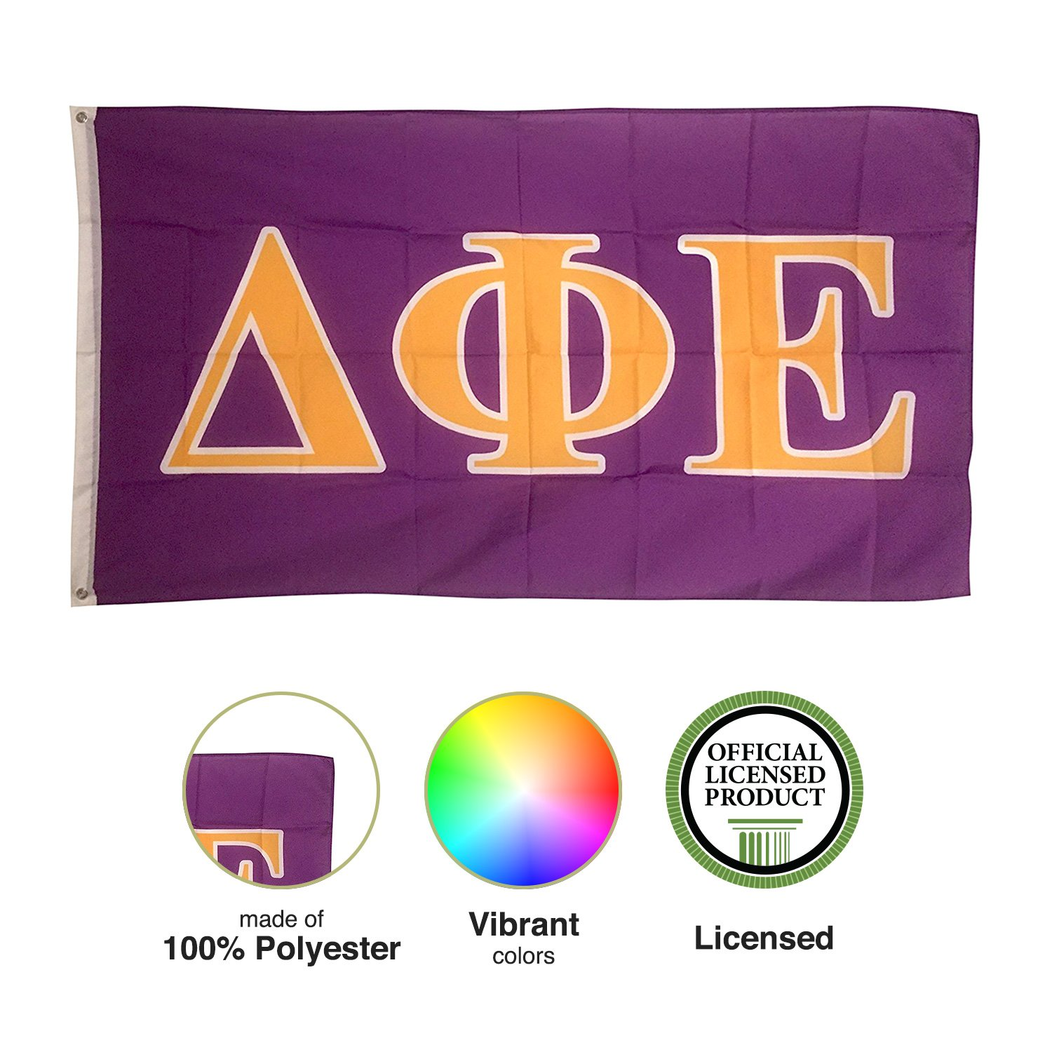 6ac4e00cfcd2 Amazon.com   Delta Phi Epsilon Letter Sorority Flag Greek Letter Use as a  Banner 3 x 5 Feet Sign Decor DPhie   Other Products   Garden   Outdoor