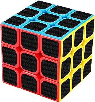 New Journey Profesional Fibra de Carbono Puzzles Cubo 3x3: Amazon ...