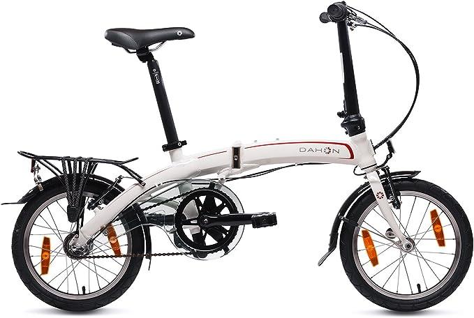 Dahon Curve I3 Mini Bicicleta Plegable, Unisex Adulto, Blanco ...
