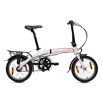 Dahon Curve I3 Mini Bicicleta Plegable, Unisex Adulto, Blanco Cloud, 16""