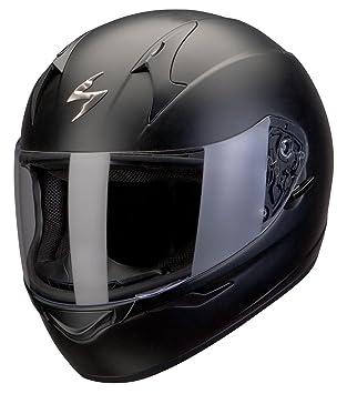 Scorpion Casco Integral Exo de 490 Solid Negro Mate Parasol Moto Casco Tamaño L 59/