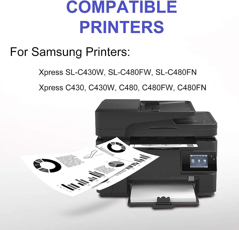SL-C480FW SL-C480FN Printer Cartridge Replacement for Samsung 404S Toner Cartridge Compatible Xpress SL-C430W BK+C+Y+M 4-Pack CLT-K404S CLT-C404S CLT-Y404S CLT-M404S Print True-to-Life Photos