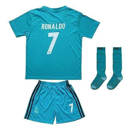 Sheki 2017/2018 Real Madrid # 7 Cristiano Ronaldo ausweich Camiseta Pantalón y Calcetines de
