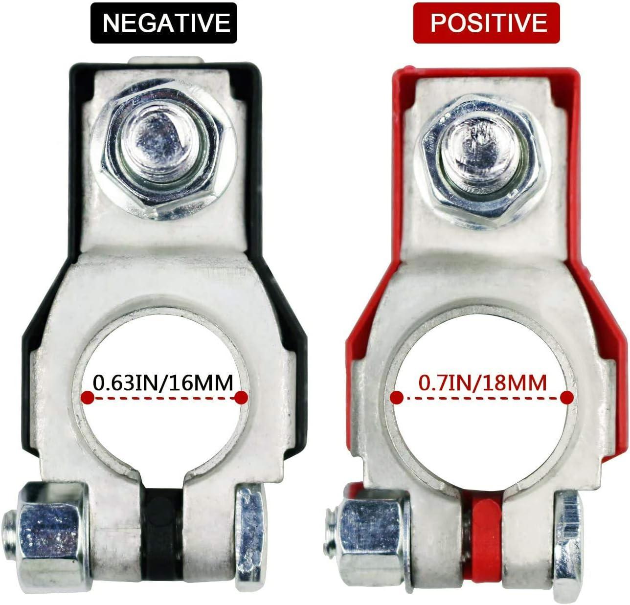 Murano,243407F000,24340-7F000 Maxima 243407F001 Positive and Negative,Plastic Cove,Copper Plate, Compatible for Nissan Sentra Rouge Altima Battery Terminals for Nissan