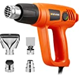 Corded Electric Heat Gun Including 4 Nozzles 2000 Watts Hot Air Gun Temperature and 2 Modes Adjustable for Tube Bending…