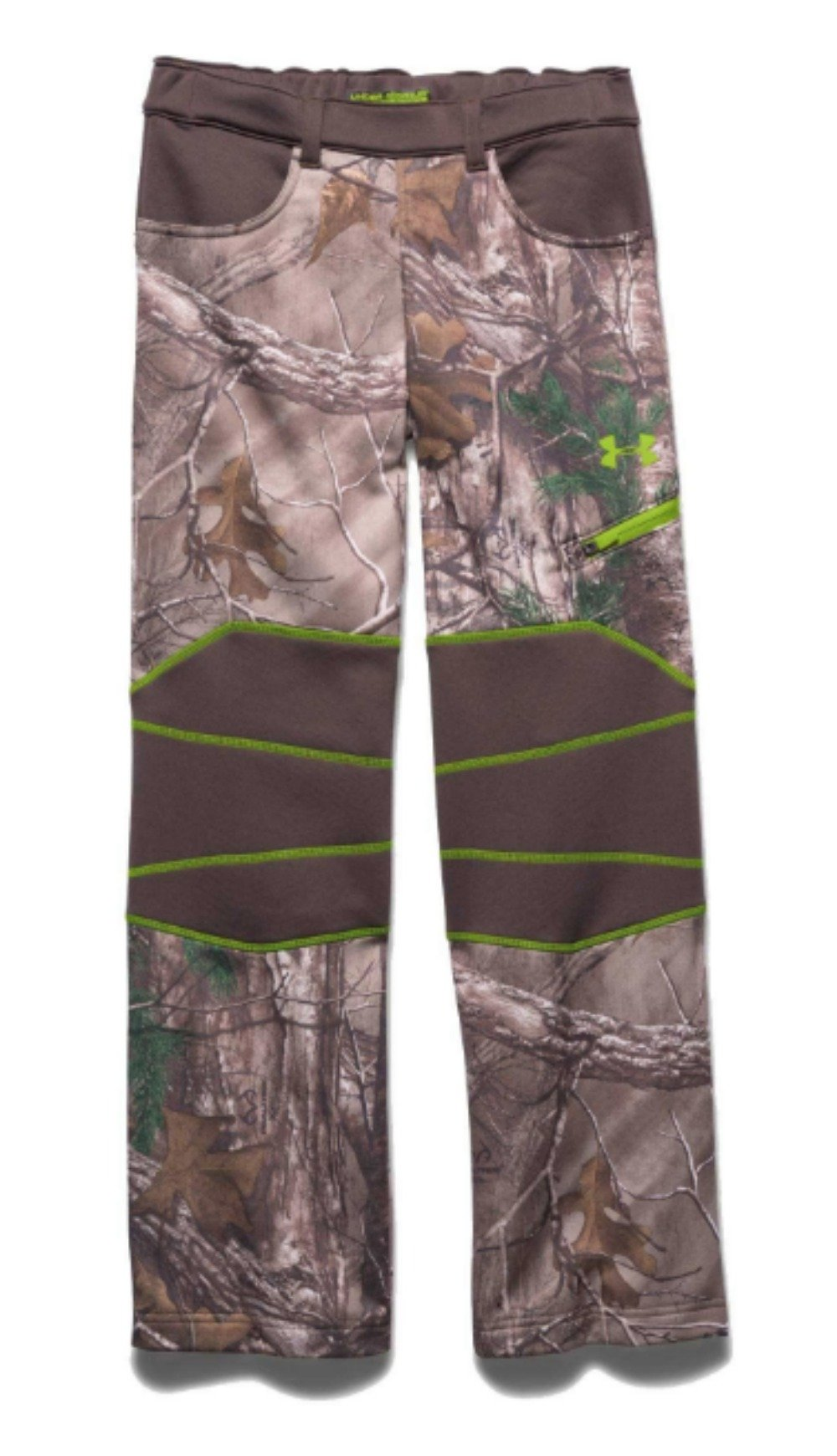 Under Armour Boy's UA ColdGear Infrared Scent Control Fleece Pants Realtree Ap Xtra / Velocity Small  by Under Armour