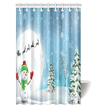 Image Unavailable Not Available For Color INTERESTPRINT Christmas Shower Curtain