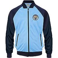 Manchester City FC - Chaqueta de Entrenamiento Oficial - para niño - Estilo Retro