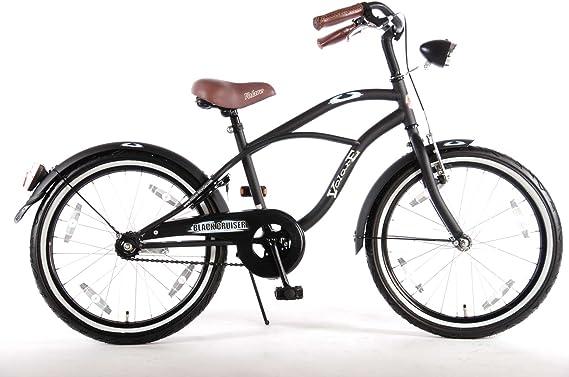 Bicicleta niño 20 pulgadas 6 7 8 años el sillín y el manillar son ajustables en altura. negro: Amazon.es: Juguetes y juegos