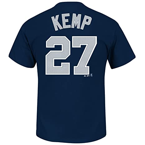 best sneakers 667f2 f446f Matt Kemp San Diego Padres Navy Jersey Name and Number T-shirt Small