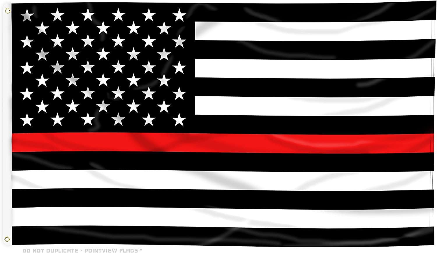 Amazon Com Large Thin Red Line American Flag 4 X 6 Feet With