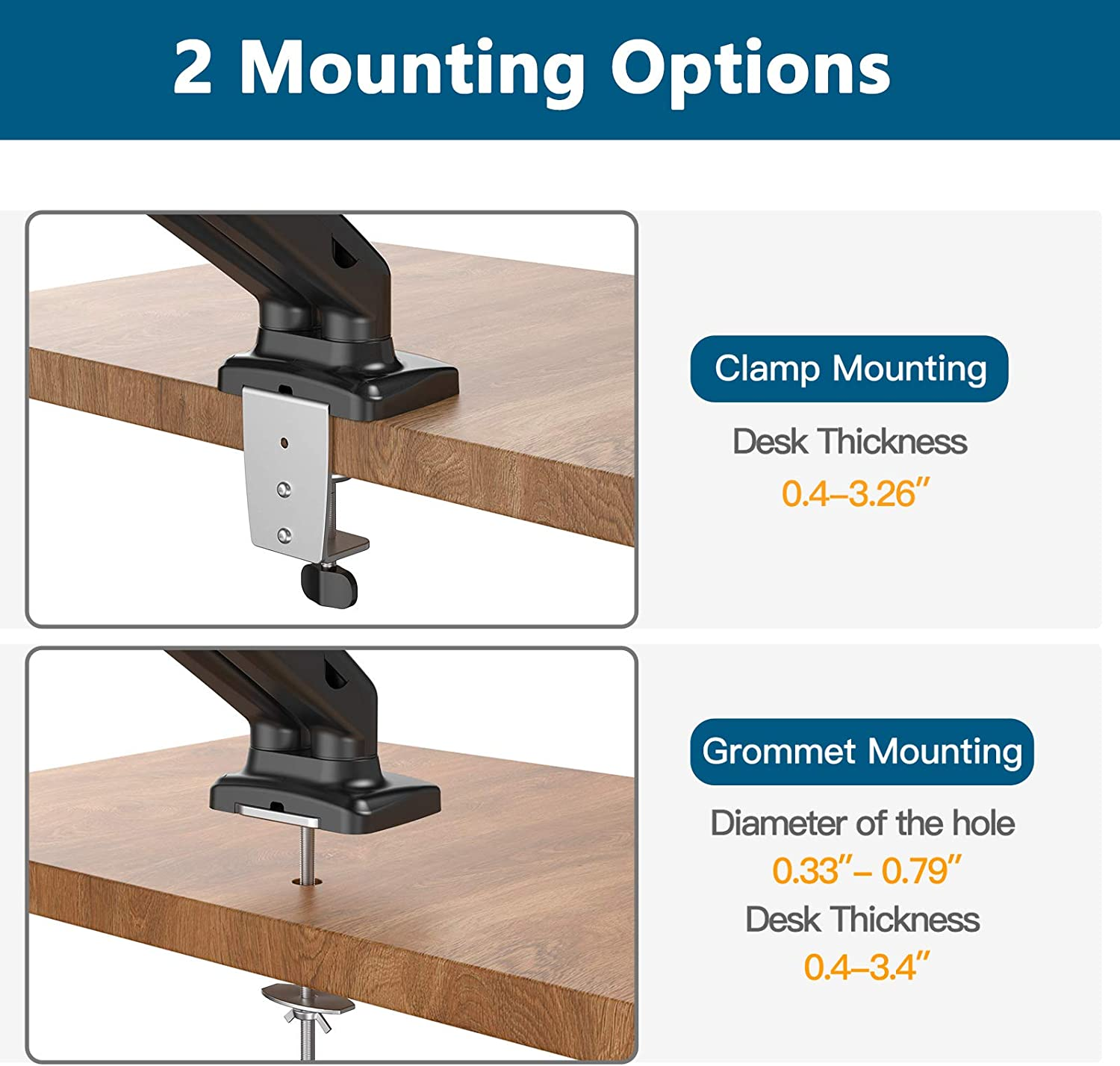dual monitor stand for desk
