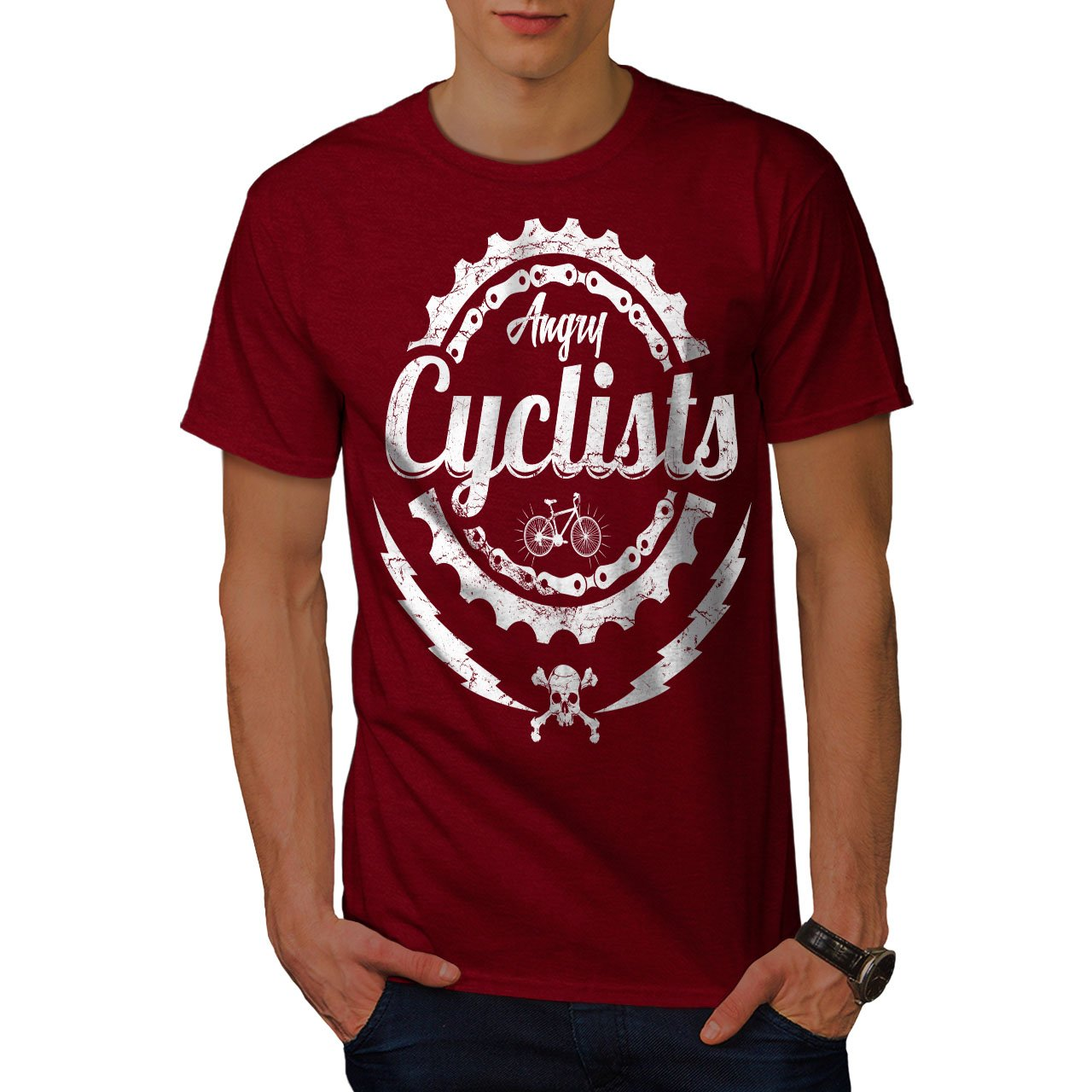 Angry Cyclist Cool S Bike Graphic Printed 9566 Shirts