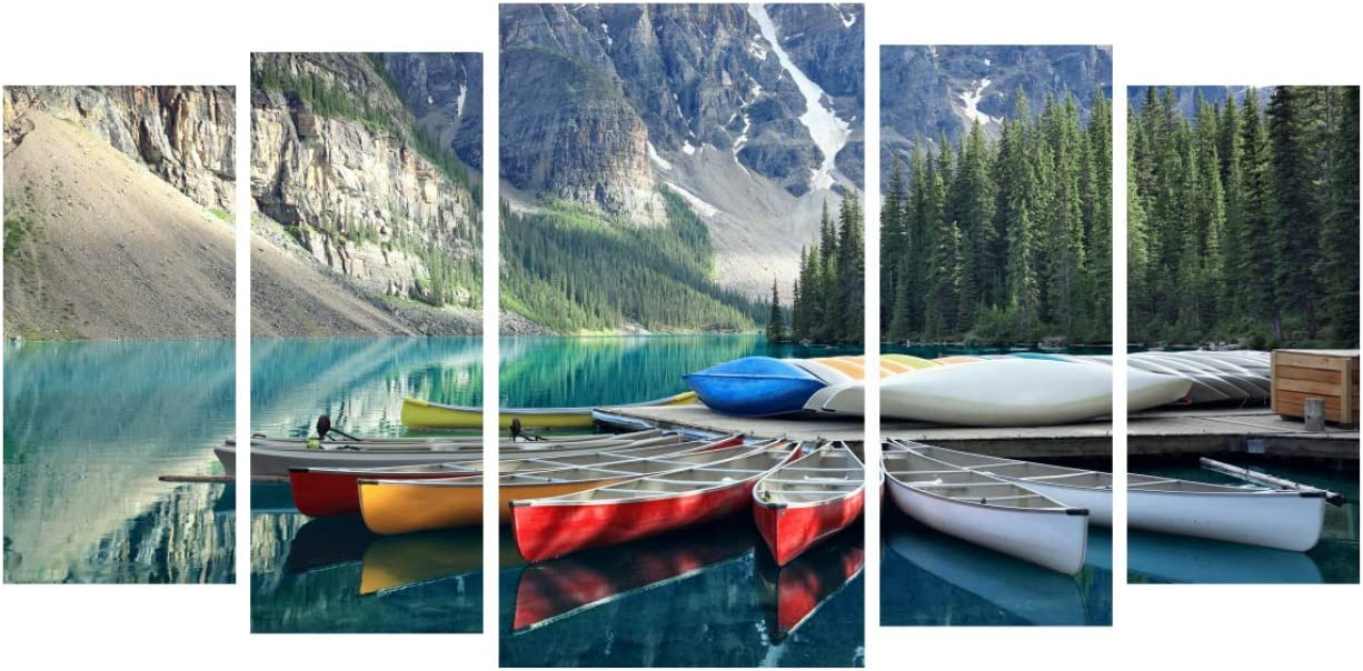 5 Set DIY 5D Diamond Painting for Adults and Kids Full Drill Arts Embroidery Craft by Number Kit Square Diamond Lakeside Tree Sailboat for Home Wall Decor