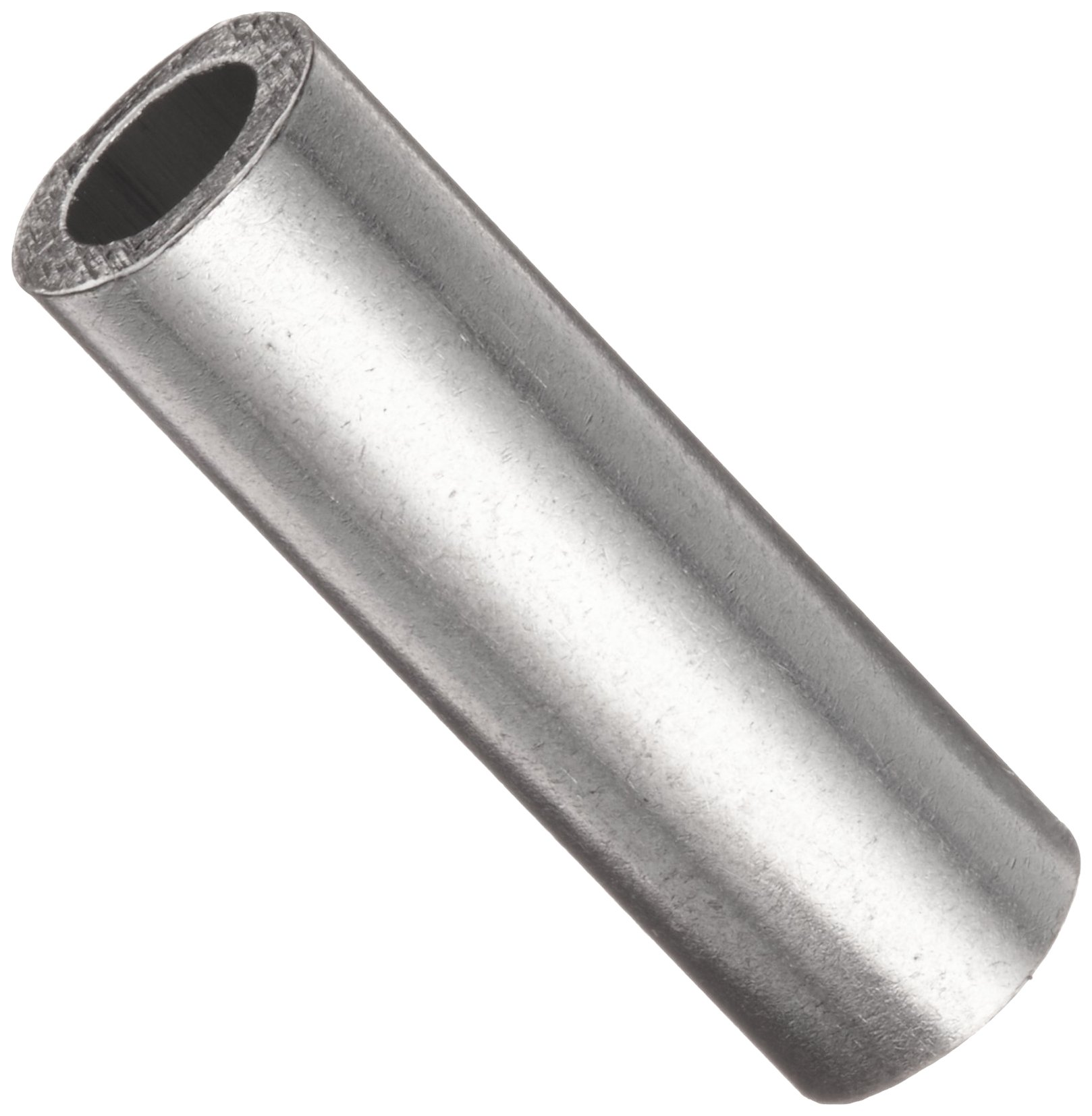 Round Spacer, 2011 Aluminum, Plain Finish, #10 Screw Size, 1'' Length (Pack of 10)