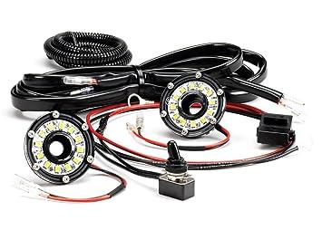 amazon com kc hilites 355 cyclone led universal 2 light under kc hilites 355 cyclone led universal 2 light under hood wiring kit