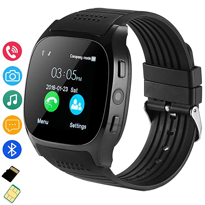 Fahionlive Bluetooth Smart Watch Touch Screen Wristwatch SIM TF Card Slot Fitness Tracker for Android Samsung LG Women Men