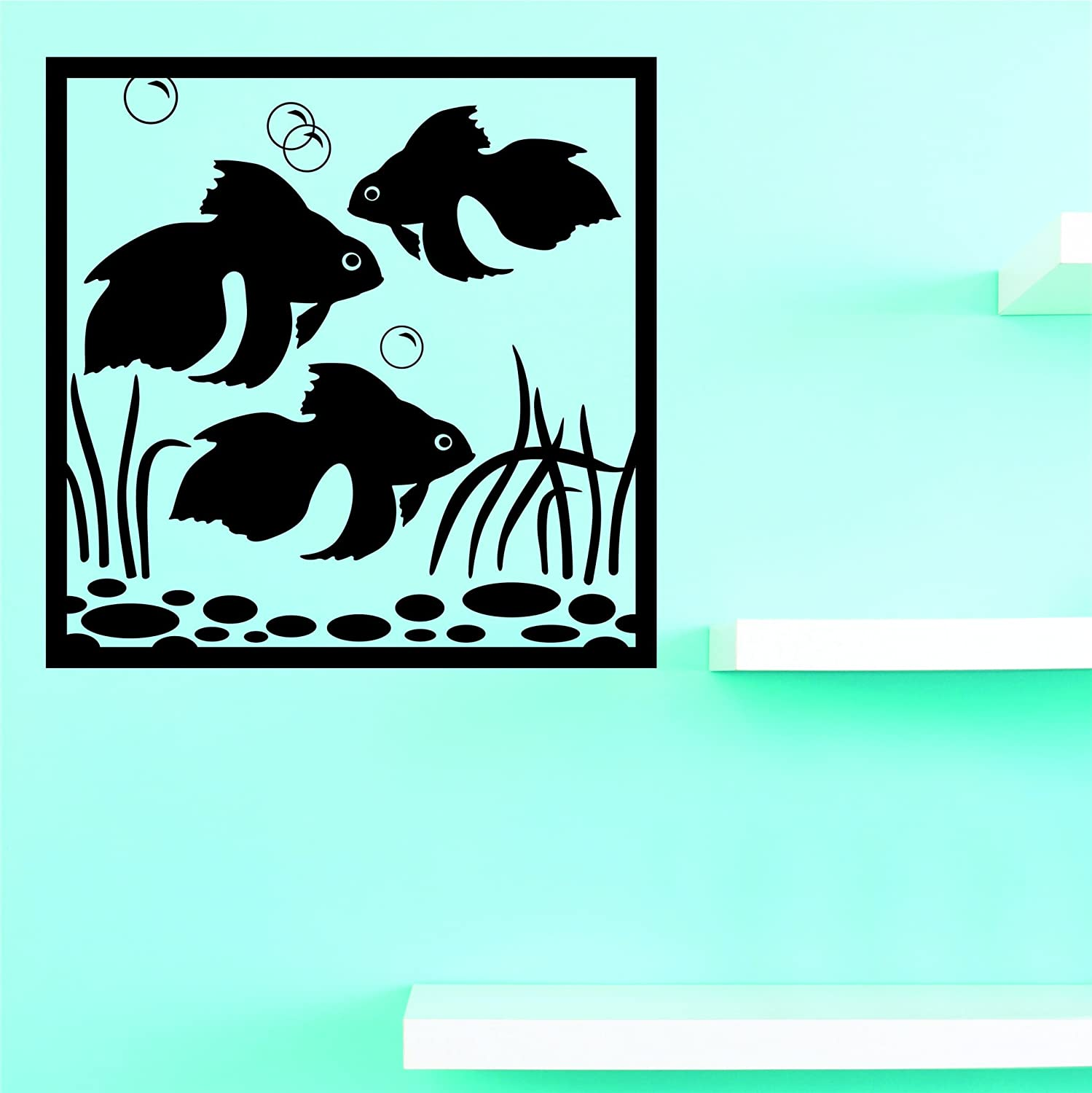 12 x 18, Design with Vinyl JER 2209 1 Hot New Decals Golffish Wall Art Size Black 12 Inches x 18 Inches Color