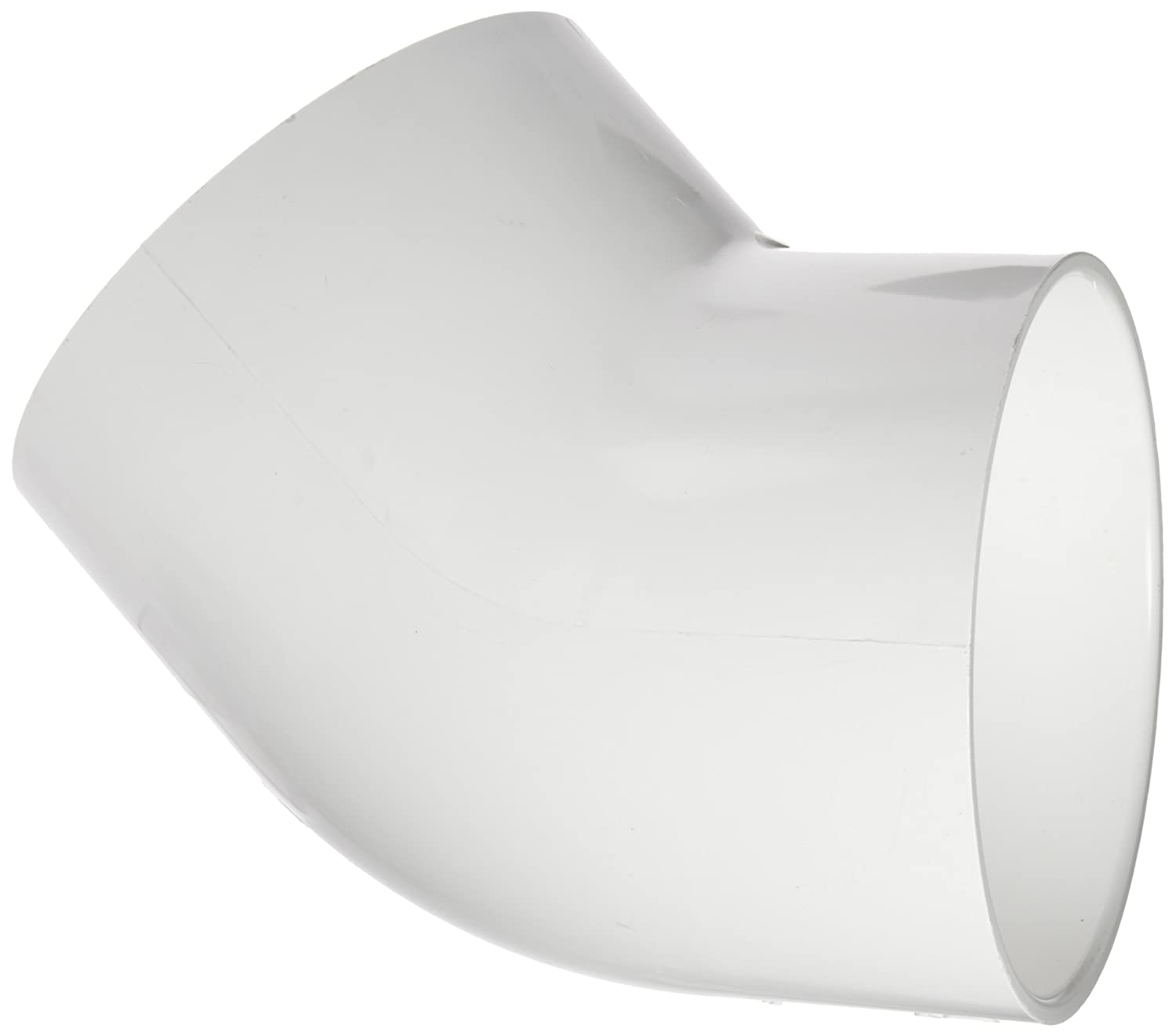 """Spears 417 Series PVC Pipe Fitting, 45 Degree Elbow, Schedule 40, 2-1/2"""" Socket"""