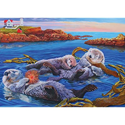 Cobblehill 54619 Multi 350 Sea Otter Family Puzzle, Various: Toys & Games