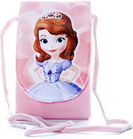 HC Toys LLP | Rapunzel Princesses Soft Canvas Material Sling Bag for Girl Children Casual Purse | Pink