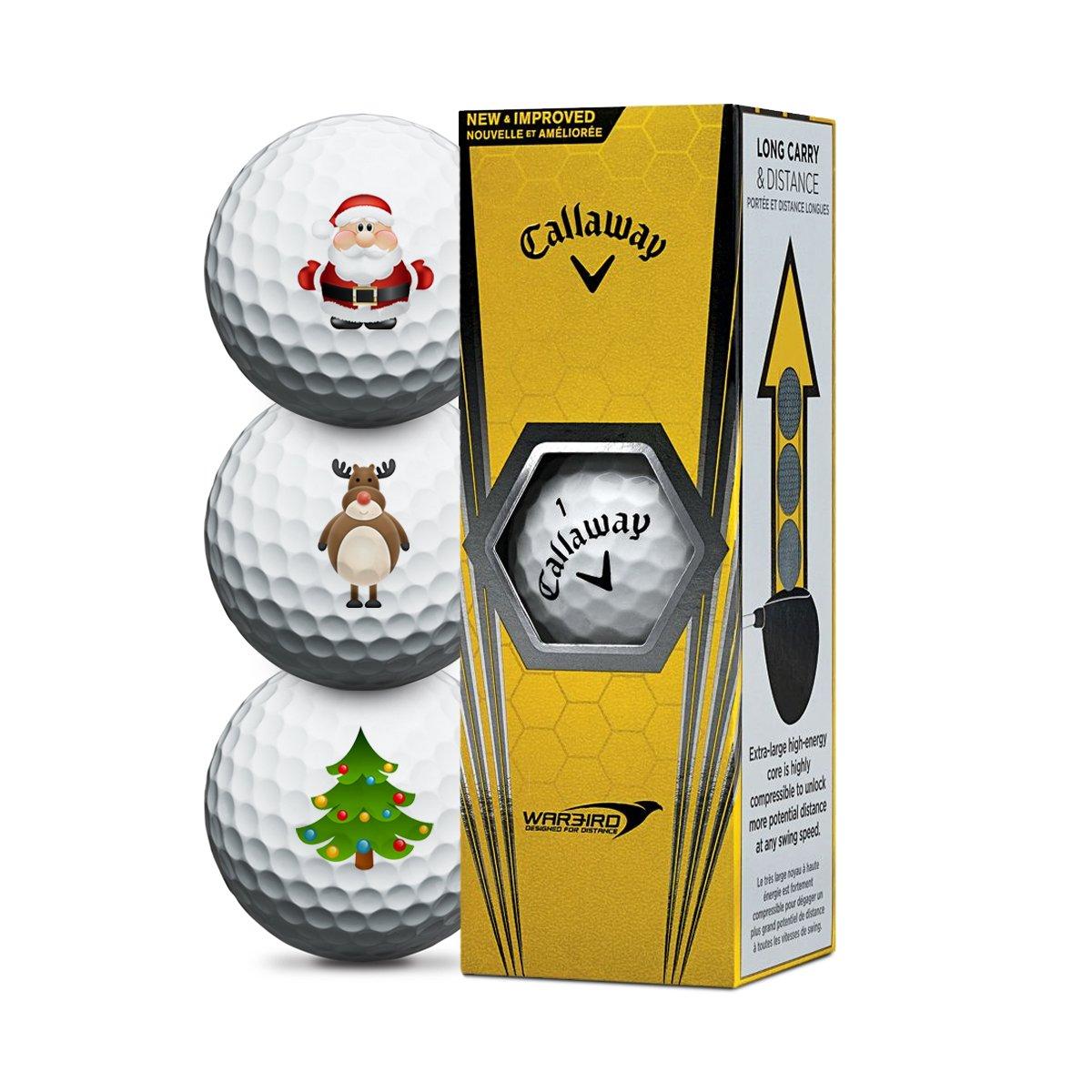 キャロウェイウォーバードクリスマスゴルフボール - 3パック B0785G1Y14
