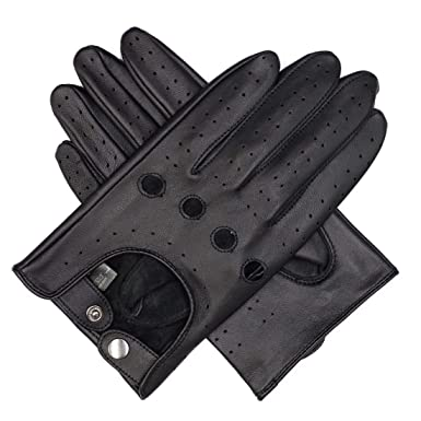1c952e72f496f Image Unavailable. Image not available for. Color  Harssidanzar Mens  Leather Driving Gloves Unlined