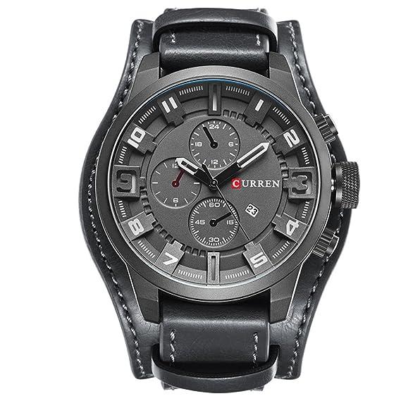 8f8b1f03d38 Amazon.com  CURREN 8225 Men Military Quartz Watch Top Brand Luxury ...