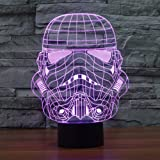 SUAVER Star Wars Stormtrooper 3D 7-Color Gradual Changing LED Touch Switch Visualization Illusion Atmosphere Light Desklamp Nightlight