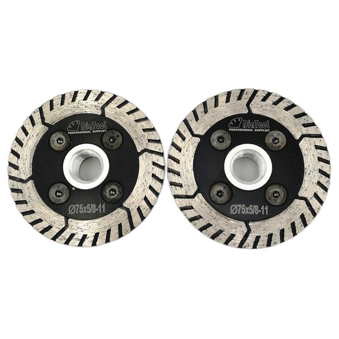 Disco de Diamante SHDIATOOL Pulido Paquete de 3 pulg. de 2 Disco dobles Corte rectificado Afilado para mármol granito Ho