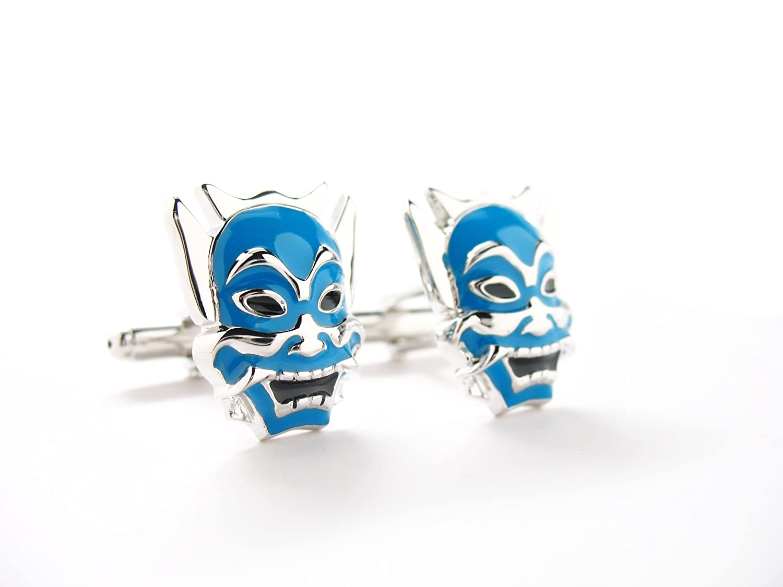 Azul Samurai Warrior Mask Gemelos Japón Ninja Anime Asia ...
