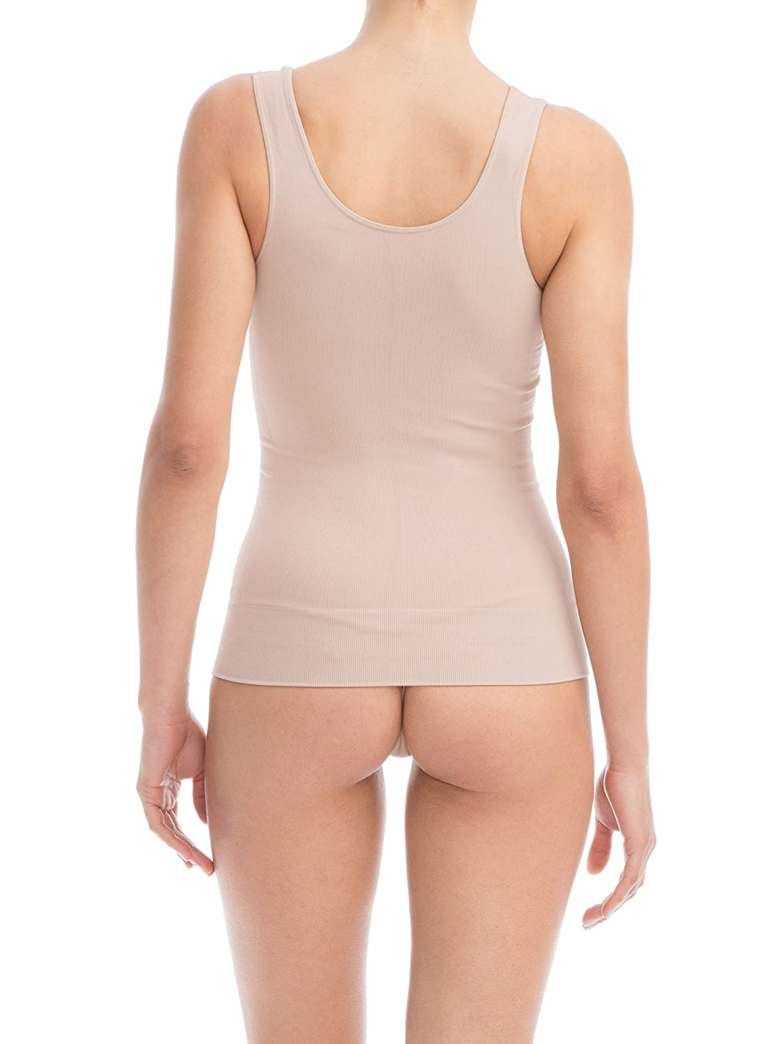 Farmacell Shape 607 Womens Shaping Control Vest with Flat Belly and Push-up Effect