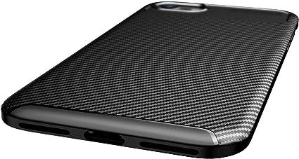 ZDXX-PC iPhone SE 2020 H/ülle, Braun Kohlefaser, leichtgewichtig Anti-Kratz Flexible Schutzh/ülle f/ür iPhone SE 2020 Anti-Rutsch