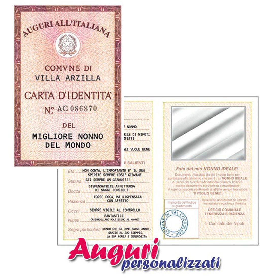 Bien connu Biglietto auguri carta d'identità del nonno: Amazon.it: Giochi e  RD45