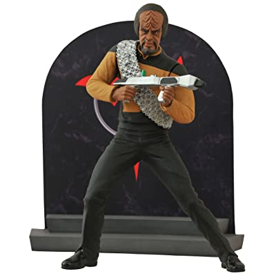DIAMOND SELECT TOYS Star Trek Select: Lt. Worf Action Figure: Toys & Games