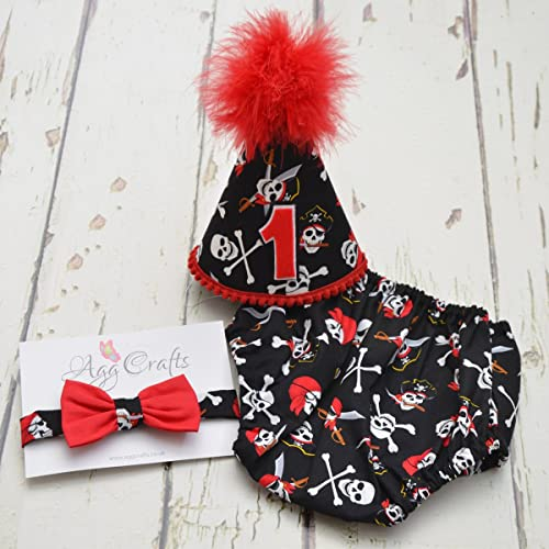 Swell Pirate Theme Boys Cake Smash Outfit First Birthday Baby Boy Personalised Birthday Cards Bromeletsinfo