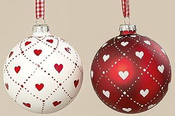 Glaskugel Weihnachtskugeln Christbaumschmuck Rot Amazon De Elektronik