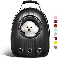 AntTech Breathable Pet Travel Backpack Space Capsule Carrier Bag Hiking Bubble Backpack for Cat & Dog Puppy (Black)