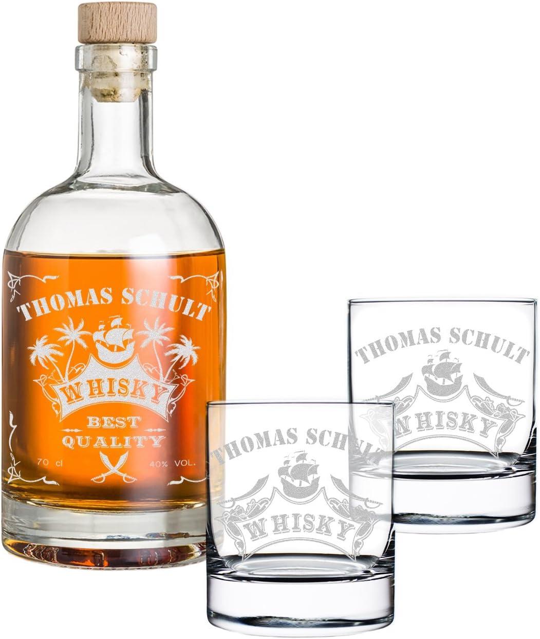 polar-effekt – Estuche con Grabado – Botella de Whisky y Cristal de Whisky con Grabado: Amazon.es: Hogar