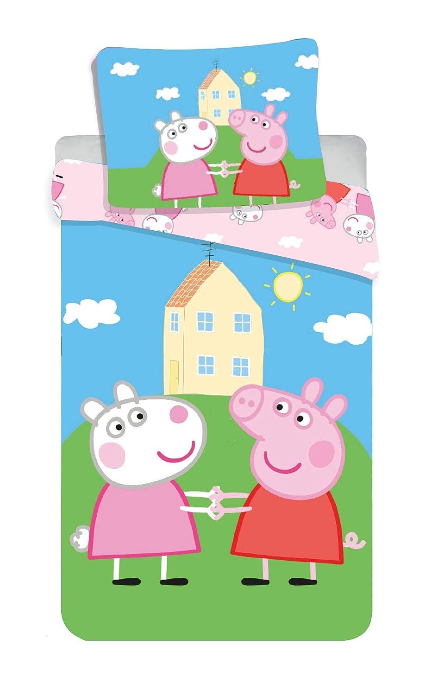 Jerry Fabrics 8500 Peppa Pig Parure de lit pour b/éb/é 100 x 135 cm 40 x 60 cm